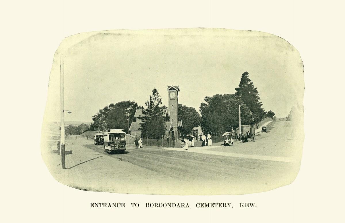 Entrance to Boroondara Cemetery. Photo source: www.biostats.com.au