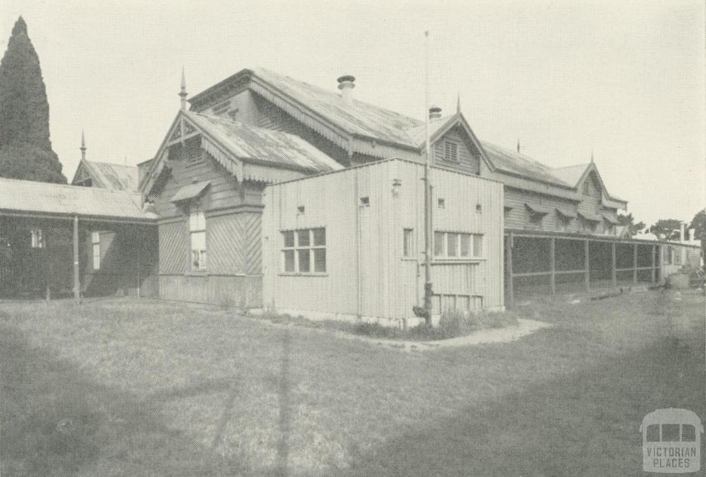 Kew Recreation Hall built 1880, demolished 1960. Photo Source - Victorian Places