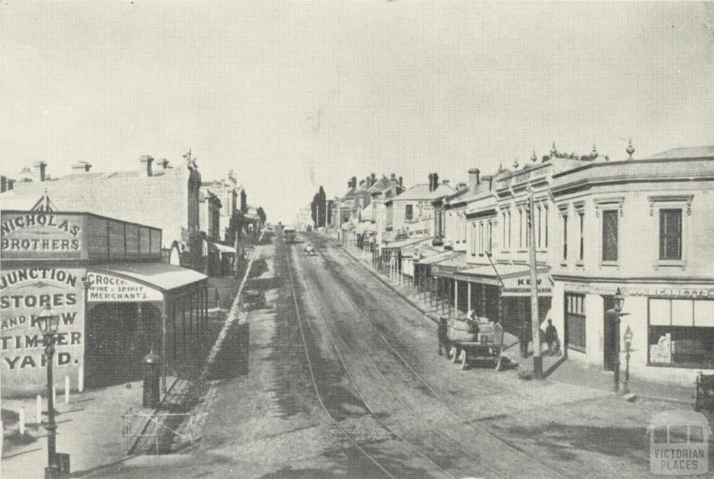 High Street Kew in the 1890s. c. 1890s. [W.D. Vaughan]. Photo Source – John Young Collection